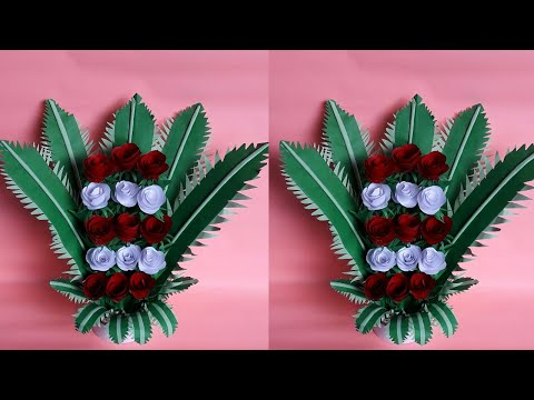 DIY Paper Flower Bouquet | How to Make Paper Flower Bouquet |  Floral Paper Decoration