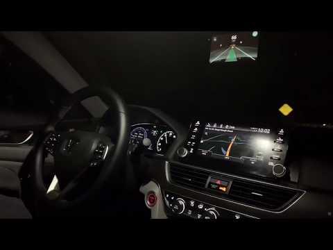 Comma Ai OpenPilot 0.5.6 Night Drive - 2018 Honda Accord Hybrid Touring