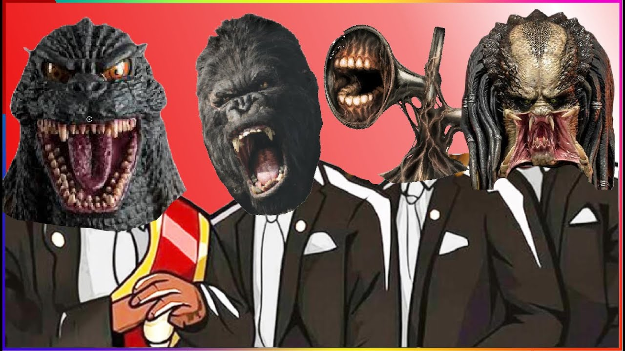 GODZILLA VS KONG VS SIREN HEAD VS PREDATOR - Coffin Dance X Baby Shark COVER