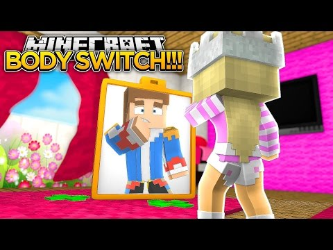 BODY SWITCH w/ LITTLE DONNY!!!- Minecraft - Baby Leah Adventures.