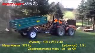Przyczepa samowyładowcza PRM 1200, przyczepy jednoosiowe z wywrotem www.redmet.pl