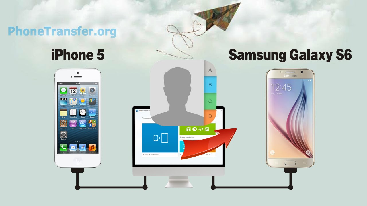 how to move contacts from samsung to iphone 5