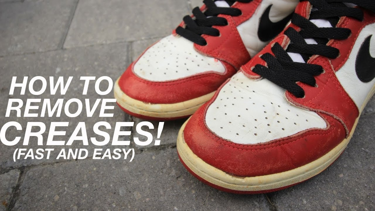 How To Remove Creases From Jordans, Air Force 1's, ect! (Fast, Simple Method & IT WORKS!!)