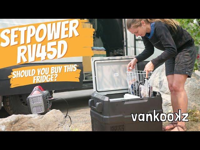 SetPower RV45D Dual Zone 45QT Fridge Review | Best Budget Fridge For Van Life