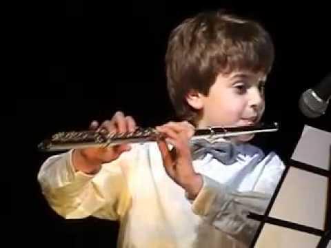 "F.J. Gossec. ""Tamburin"" And J.S. Bach. ""Badinerie"". Performing Dmitri Krasnovsky"
