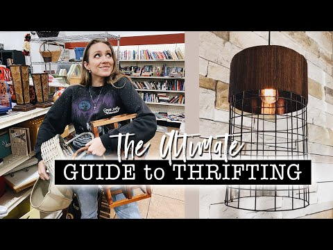 ULTIMATE GUIDE To THRIFTING + DIY Thrift Flip Decor // How To FIND, CLEAN U0026 FLIP In 2020