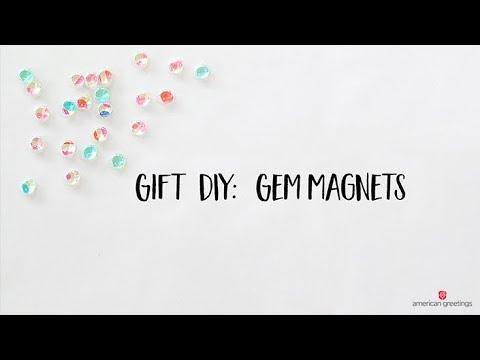 DIY Locker Decor - Tissue Paper Gem Magnets