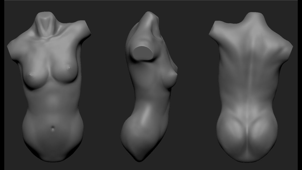 Speed Sculpting - Female Torso - YouTube