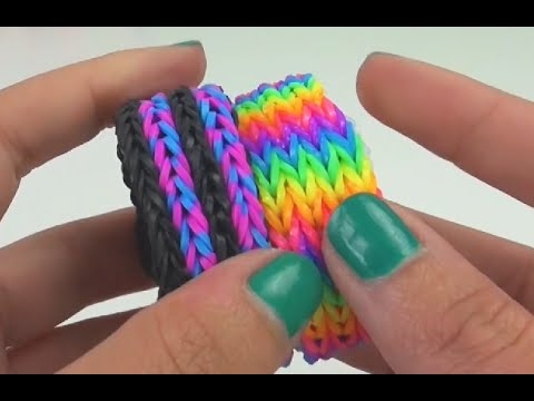 loom bandz diy vierfach fishtail selber machen anleitung. Black Bedroom Furniture Sets. Home Design Ideas