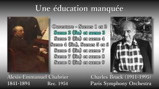 Chabrier: Une éducation manquée, Bruck (1954) シャブリエ しくじり教育 ブリュック