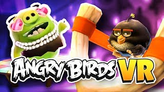 ANGRY BOM BIRD ATTACKS BOSS PIG! - Angry Birds VR Isle of Pigs
