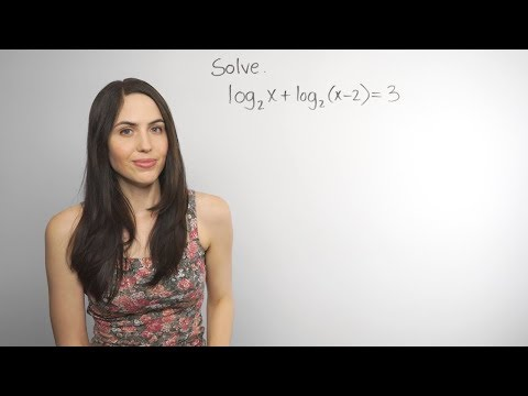Solving Logarithmic Equations... How? (NancyPi)