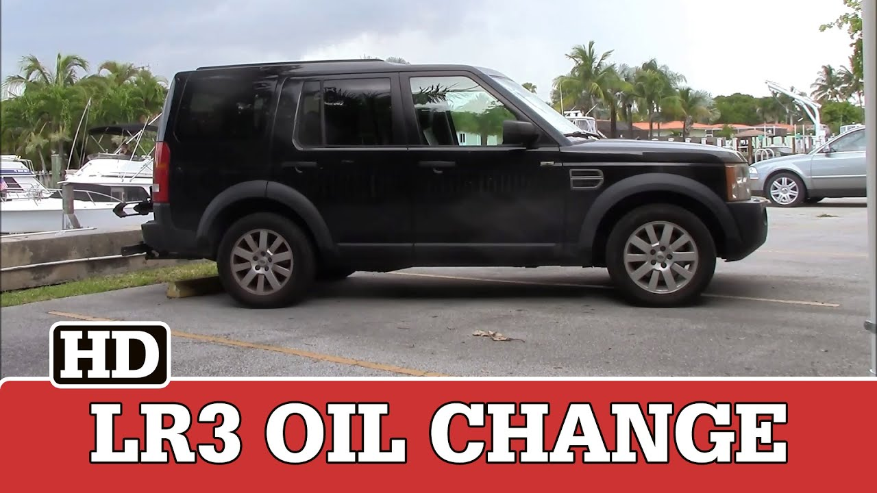 LR3 Oil Change How To