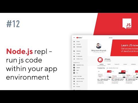 Node js REPL - Run JS Code within App Environment - JSCasts #12
