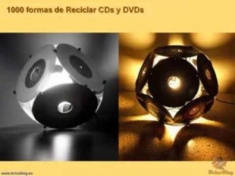 1000 ideas creativas para reciclar cds y dvds i youtube - Estanterias para cd y dvd ...