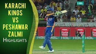 PSL 2017 Match 3: Karachi Kings v Peshawar Zalmi Highlights