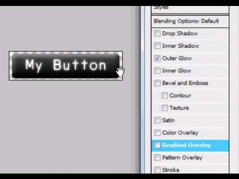 Photoshop Website Button Tutorial - How To Create An Adobe Photoshop Graphic Button