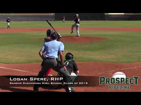 Logan Spere Prospect Video, RHP, Rancho Cucamonga High School Class of 2019