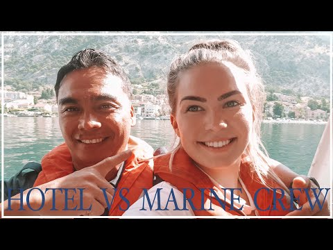 The difference between Marine Crew and Hotel Staff onboard a cruise ship