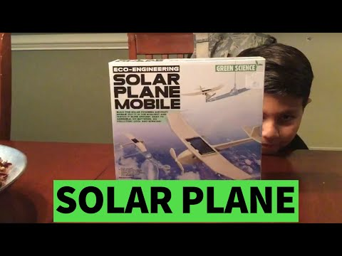 Solar Plane Mobile by Green Science