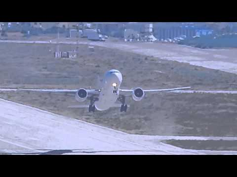 AirFrance B777 short runway takeoff at Beirut Int'l