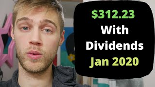 How I Made $312.23 with Dividend Investing in January 2020 ($36,000 Stock Portfolio)