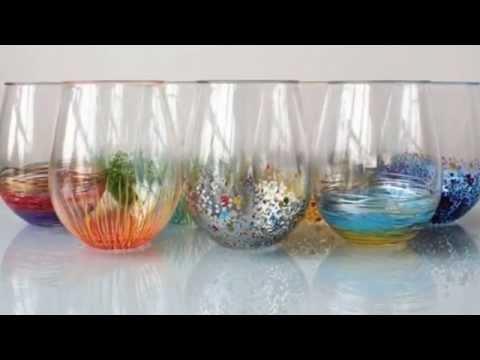Как украсить большой бокал