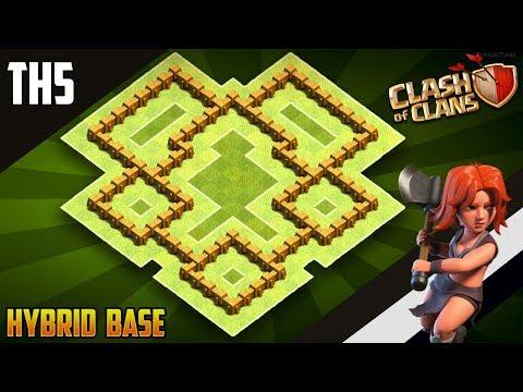 BEST Epic TH5 HYBRID/TROPHY[defense] Base 2019!!  Town Hall 5 Hybrid Base Design - Clash Of Clans