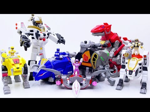 Power Rangers & Marvel Avengers Toys Pretend Play | White Tigerzord Get Stolen by Witch