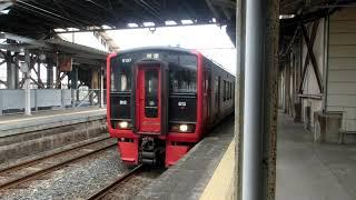 (朝唯一の3両編成 運用!!) 813系 RM107編成  普通 荒尾行(大牟田駅発車)