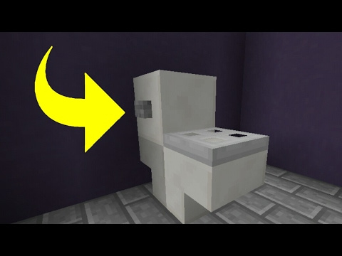 comment faire des toilettes sur minecraft youtube. Black Bedroom Furniture Sets. Home Design Ideas
