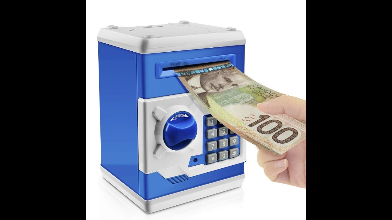 Blue fuqimama Password Piggy Bank Password Safe Deposit Box Combination Lock Money Coin Saving Storage Box Code Cash Safe Case