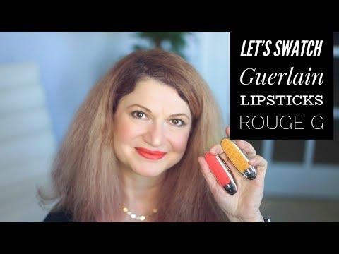Rouge G De Guerlain Lipstick New Color Swatches