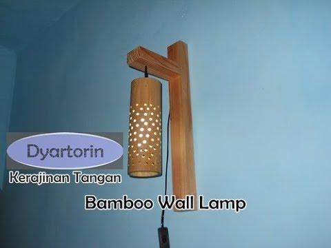 Ide unik ber bisnis!!! Cara membuat lampu dinding gantung dari bambu bekas - lampu hias