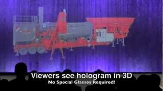 20 ft wide Giant 3D Hologram Projector - Large Scale Hologram Projection