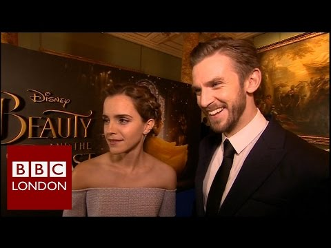Emma Watson & Dan Stevens 'Beauty and the Beast' interview - BBC London News