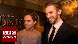 Emma Watson & Dan Stevens 'Beauty and the Beast' interview - BBC London News