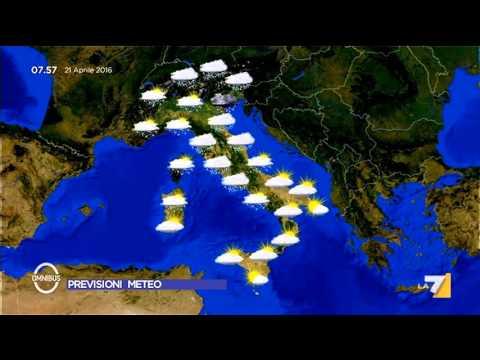 Previsioni meteo 21/04/2016