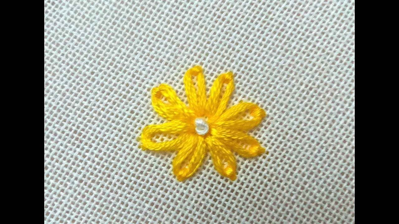 Papatya İğnesi Basit Nakış Tekniği (Hand Embroidery)