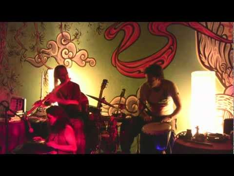 Hang Flute Percussion Bouzouki at the Chocolate party lounge concert - Maya, Avi, Terence 2012