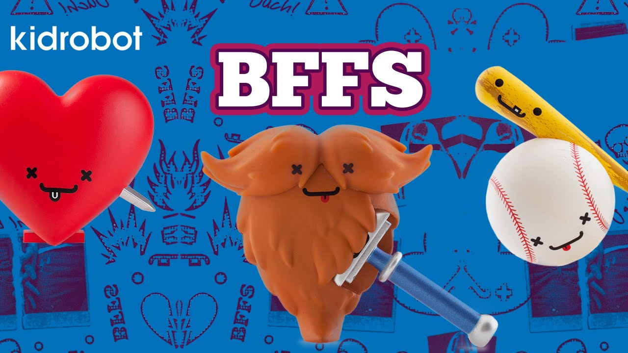 BFFs Best Friends Forever from KIDROBOT and Travis Cain