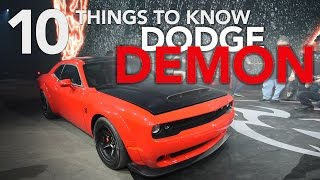 2018 Dodge Demon - 10 Things You Need to Know - 2017 New York Auto Show