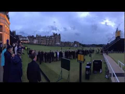 Tom Watson makes emotional farewell walk in his final British Open