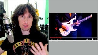 British guitarist reacts to Steve Vai making his guitar surrender... tenderly!