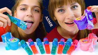 ASMR FR OOZE POP LIQUID CANDY WITH SOUR CANDY Eating Sound Lilibu