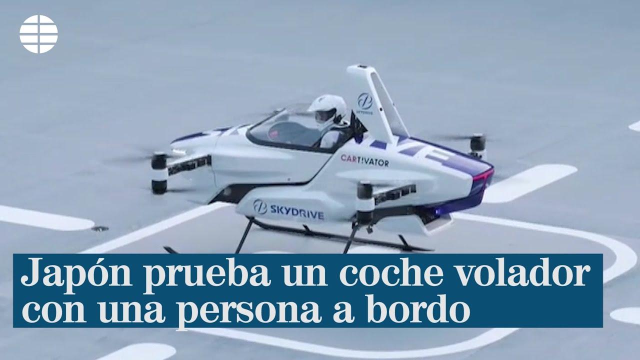 Japón prueba un coche volador con una persona a bordo - ELMUNDOTV