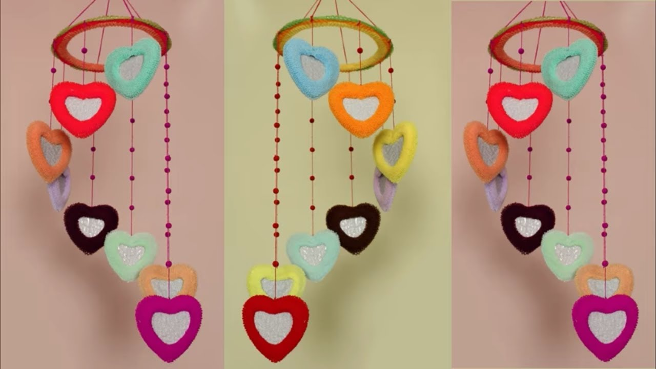 Beautiful Wall Hanging Idea At Home Wall Hanging Craft Idea Using