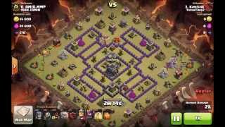 How to 3 star Th9 turtle variation with hogs - clash of clans war attack strategy for town hall 9