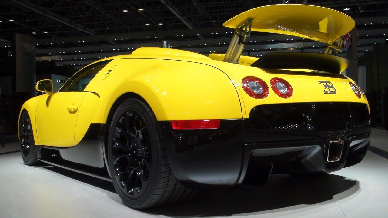 yellow bugatti veyron grand sport 2011 dubai motorshow youtube. Black Bedroom Furniture Sets. Home Design Ideas