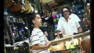 """Little Boy Singing in Record Store """"Just Another Day"""" Amazing talent!!!"""